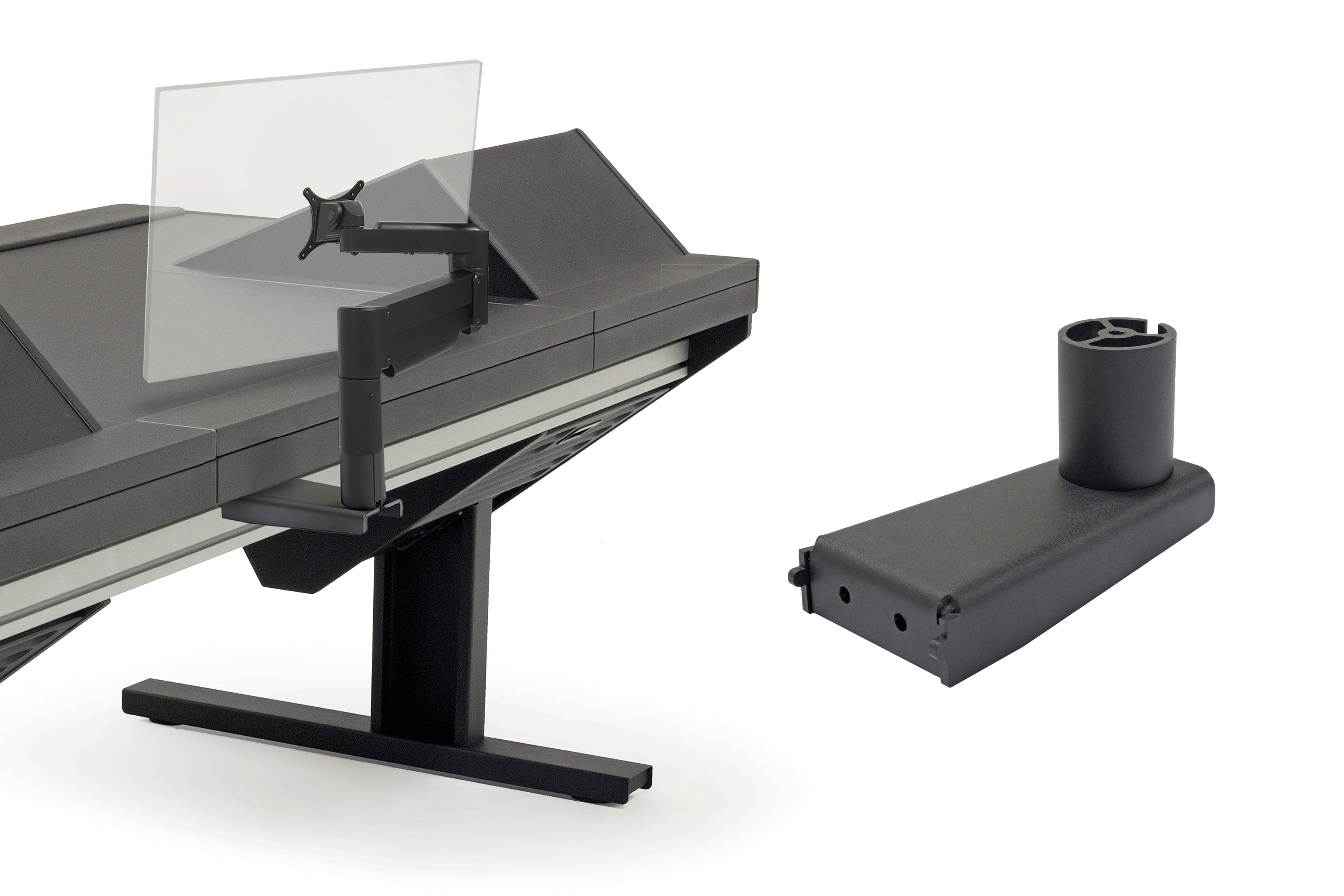 Eclipse Rail Mount Adapter for 7500 Series Monitor Arm - 3""