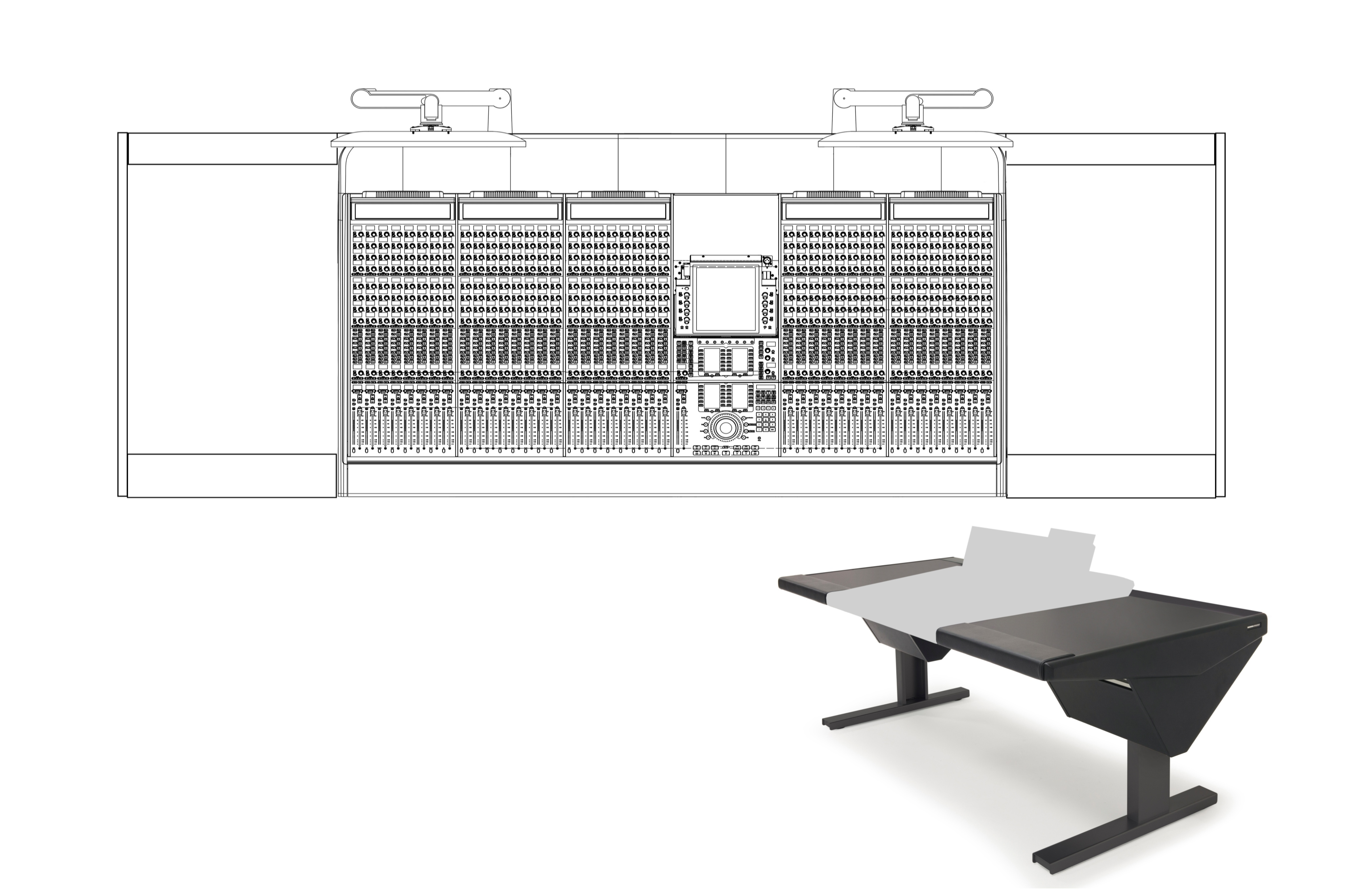 40 Fader System with Desk (L) and Desk (R)