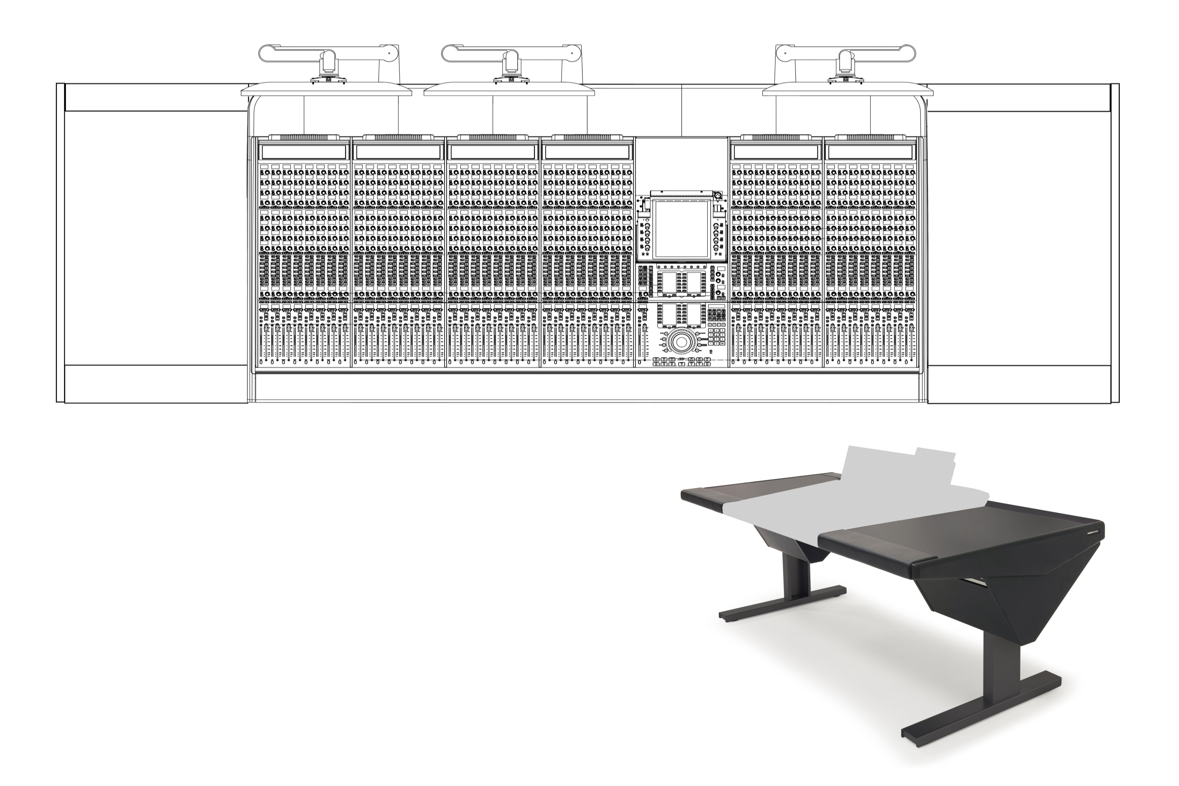 48 Fader System with Desk (L) and Desk (R)
