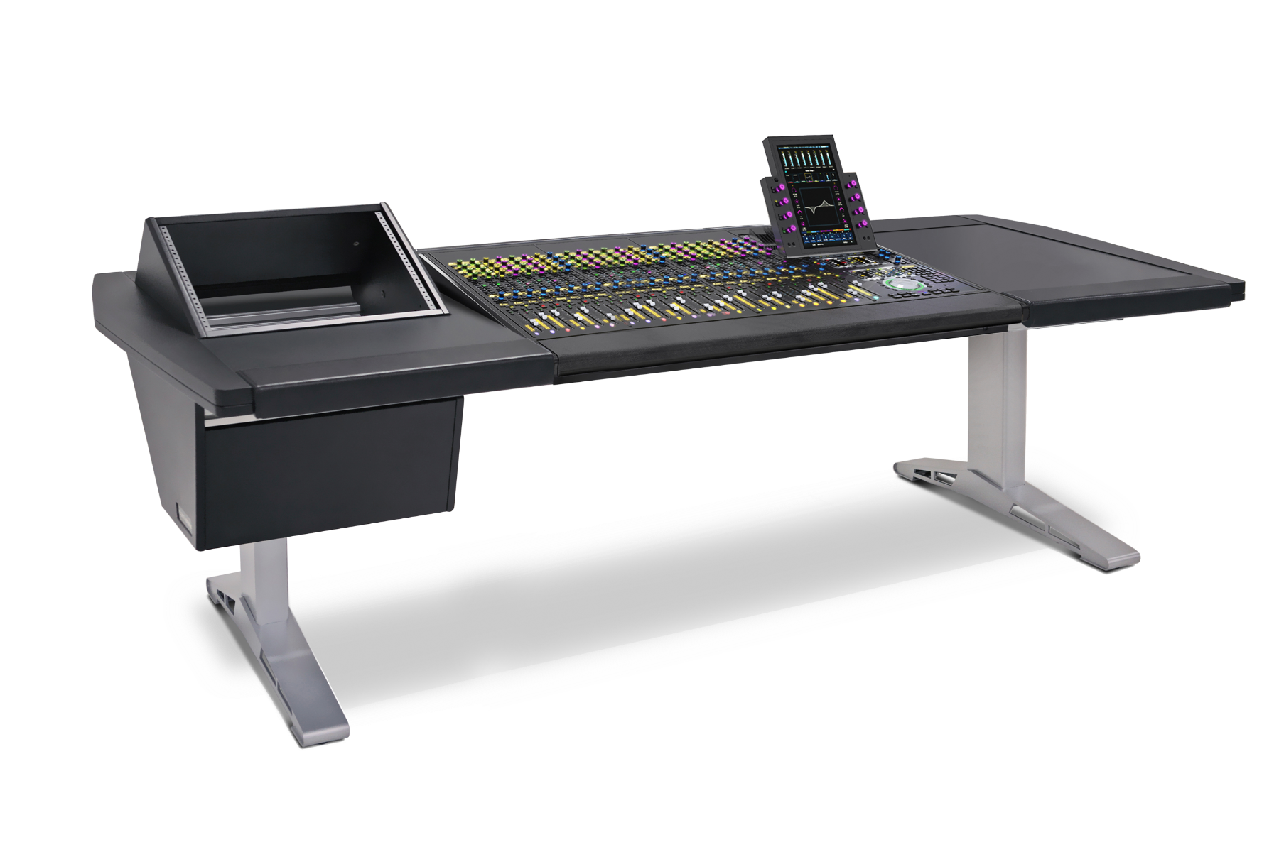 24 Fader System with Rack (L) and Desk (R)