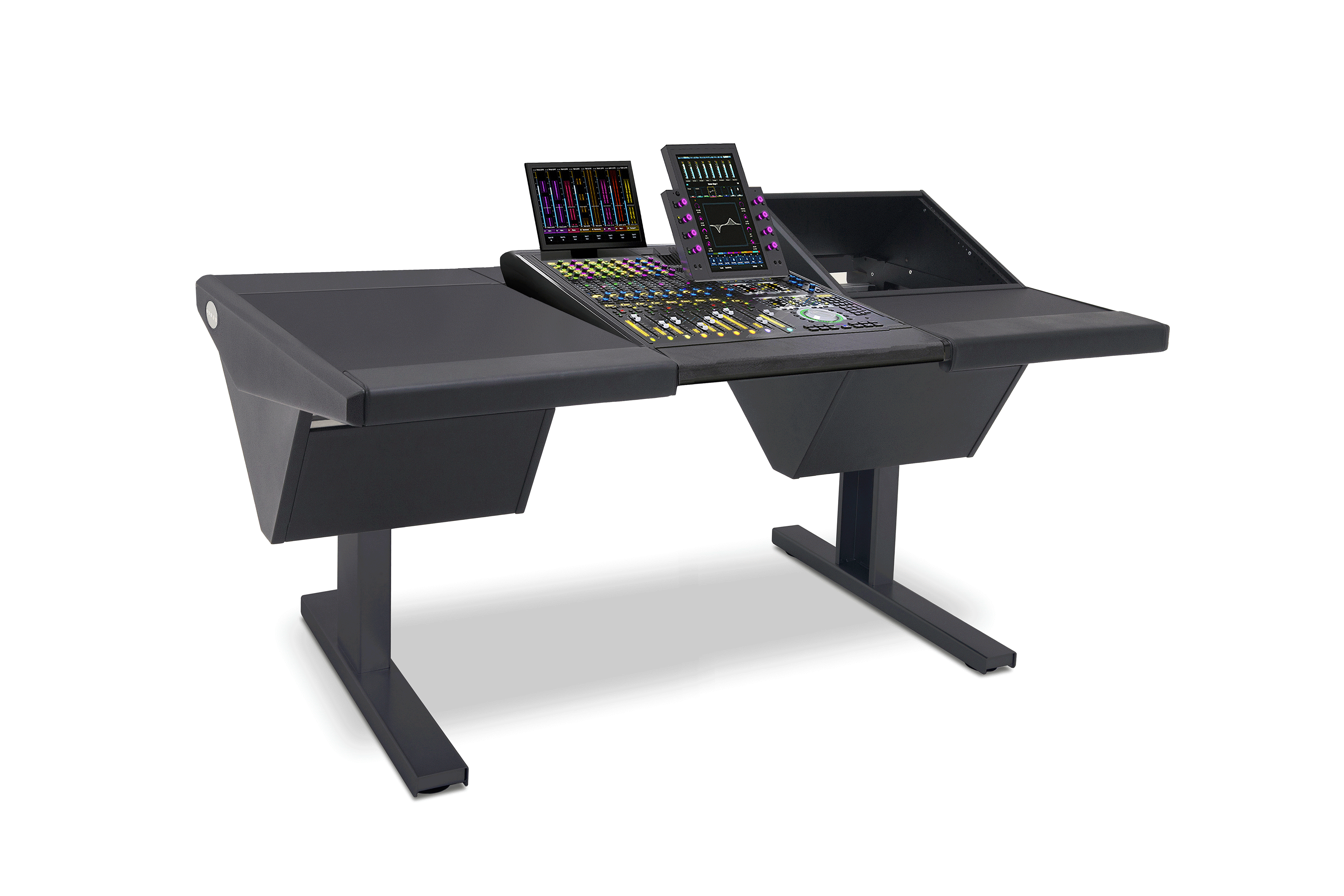 8 Fader System with Desk (L) and Rack (R)