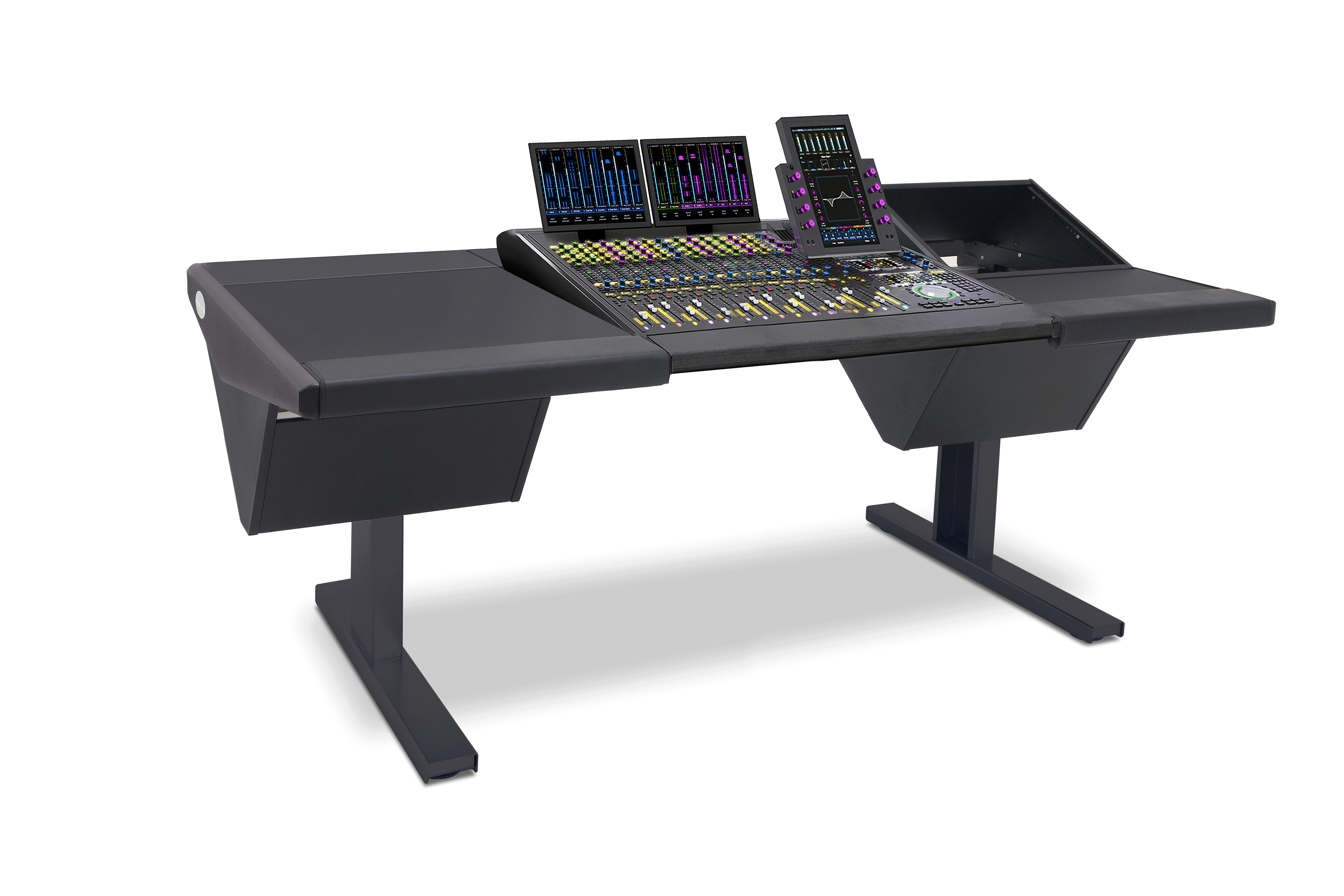 16 Fader System with Desk (L) and Rack (R)