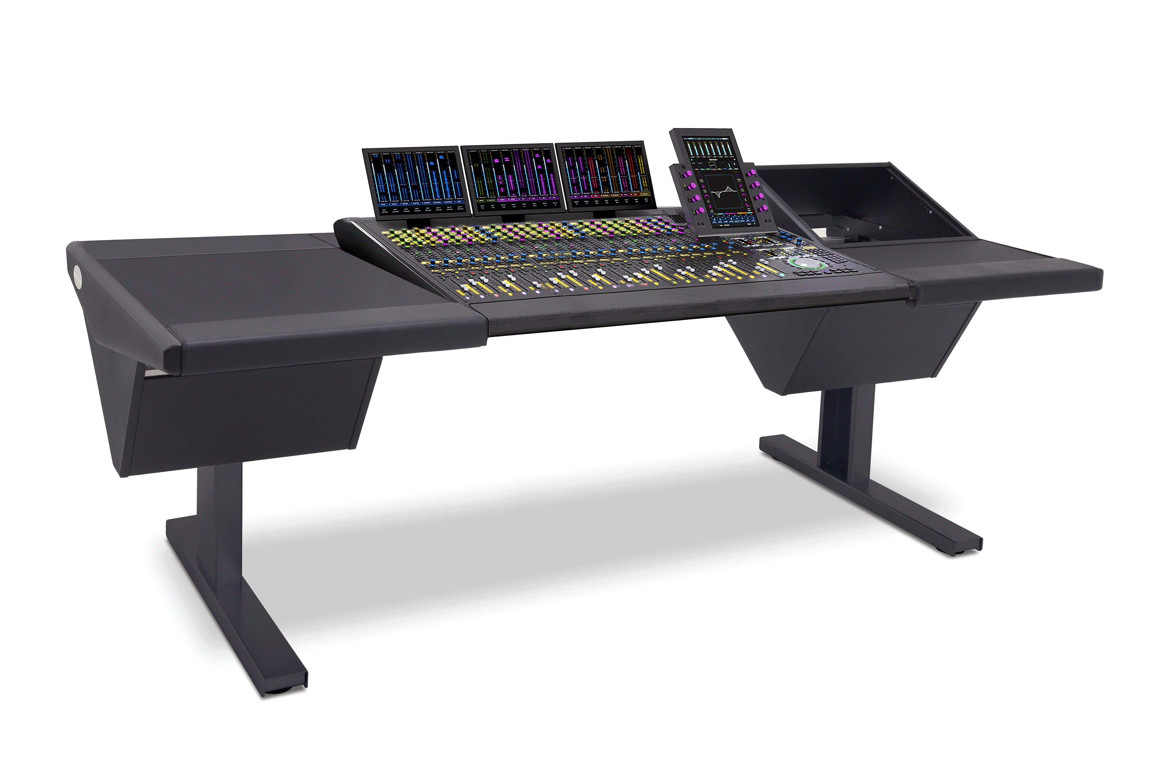 24 Fader System with Desk (L) and Rack (R)