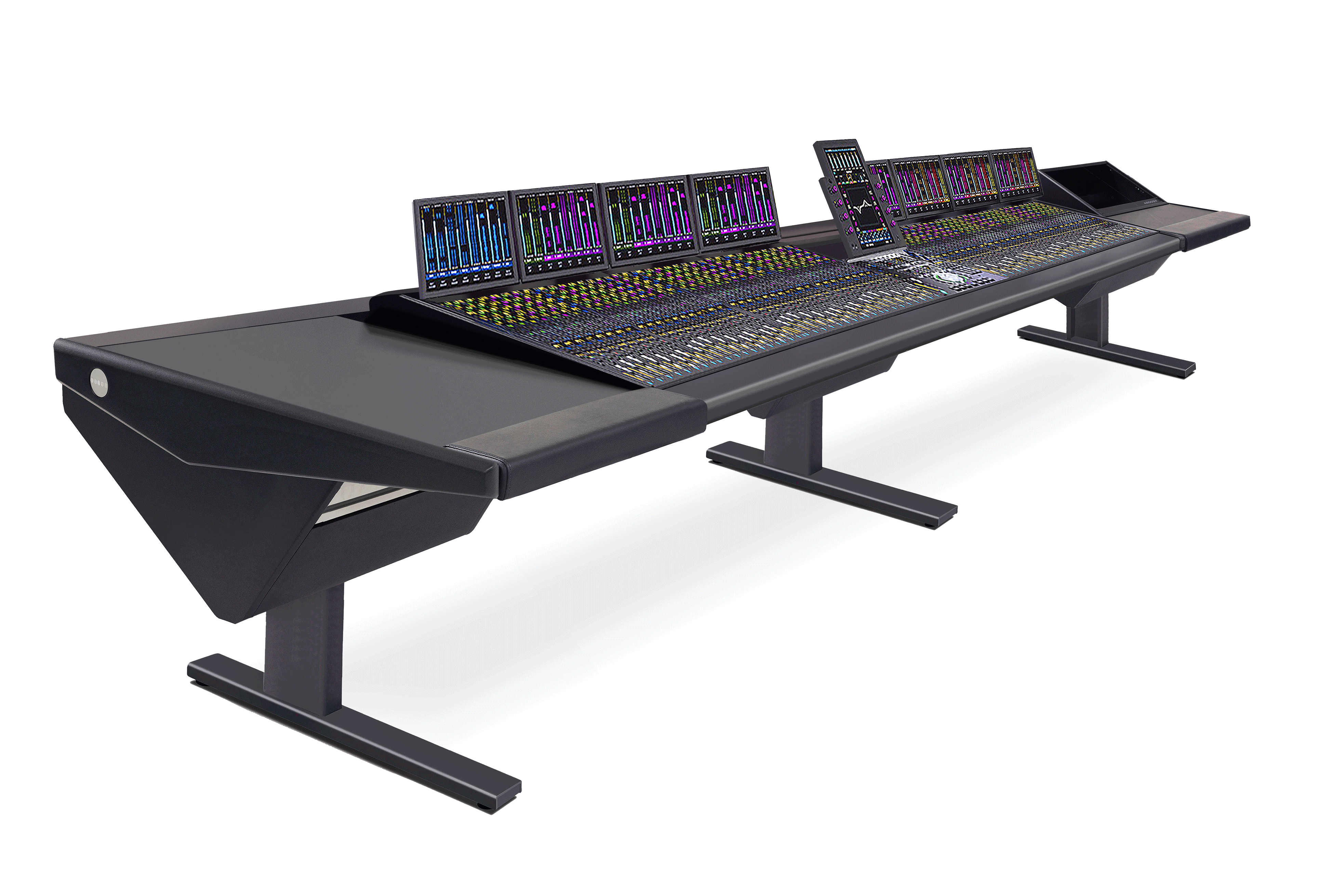 64 Fader System with Desk (L) and Rack (R)