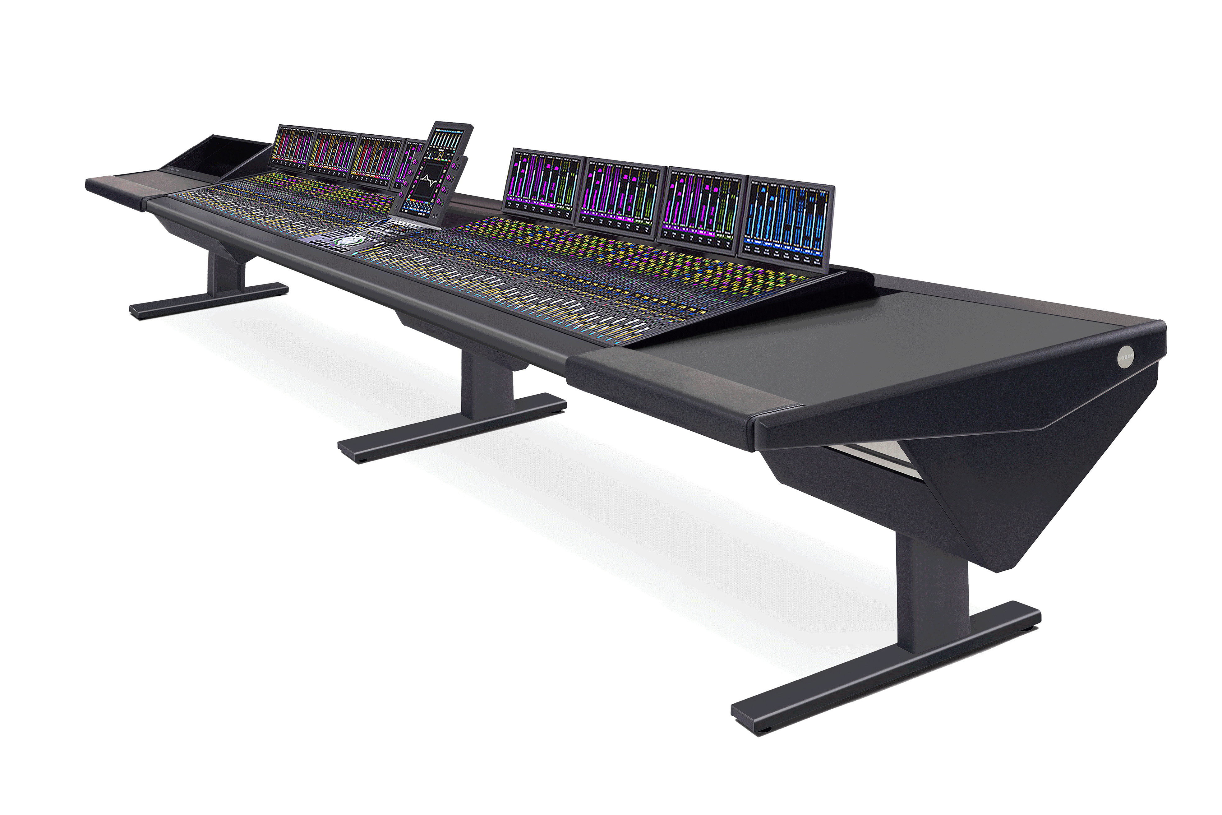 64 Fader System with Rack (L) and Desk (R)