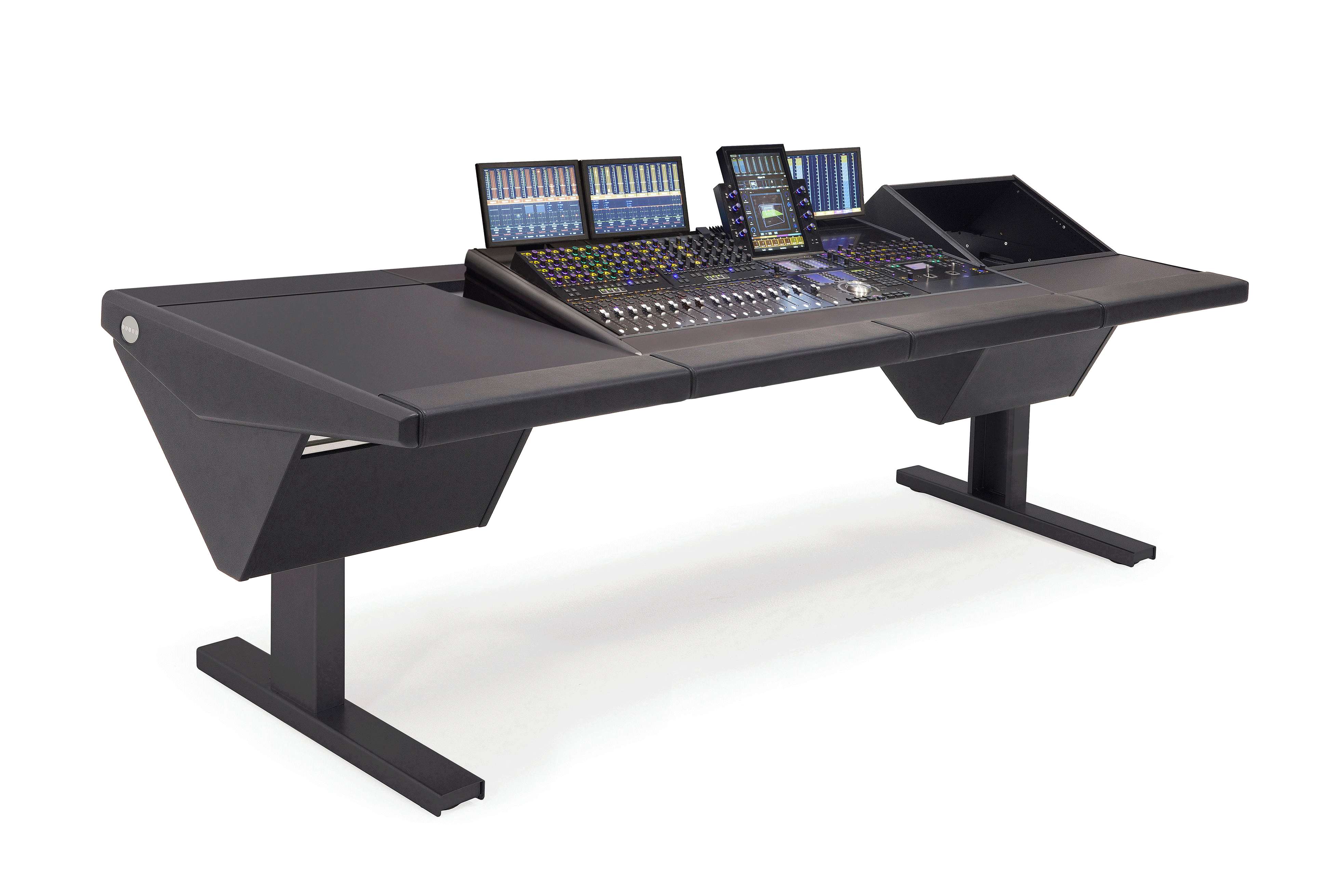 S4 - 4 Foot Wide Base System with Desk (L) and Rack (R)