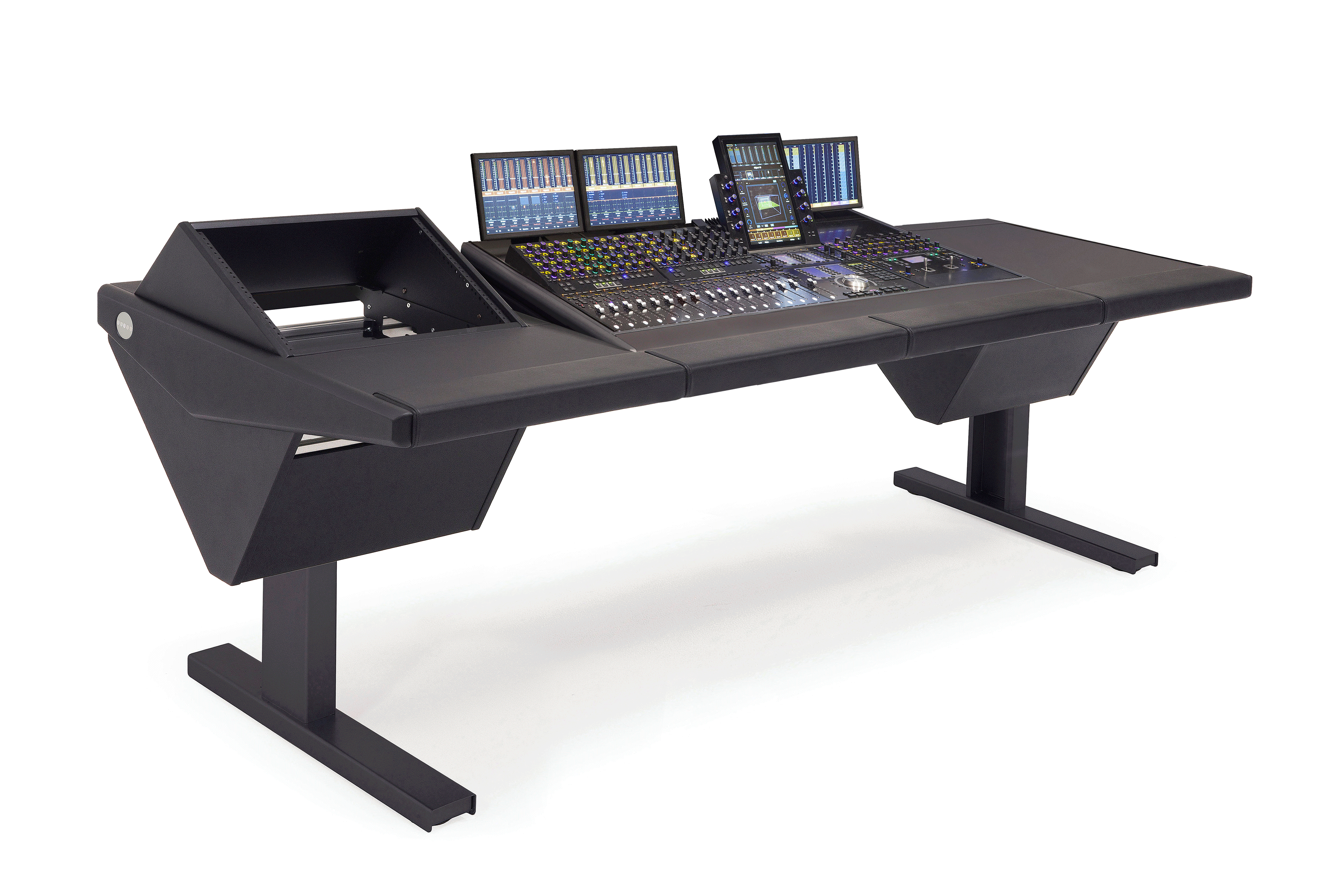S4 - 4 Foot Wide Base System with Rack (L) and Desk (R)