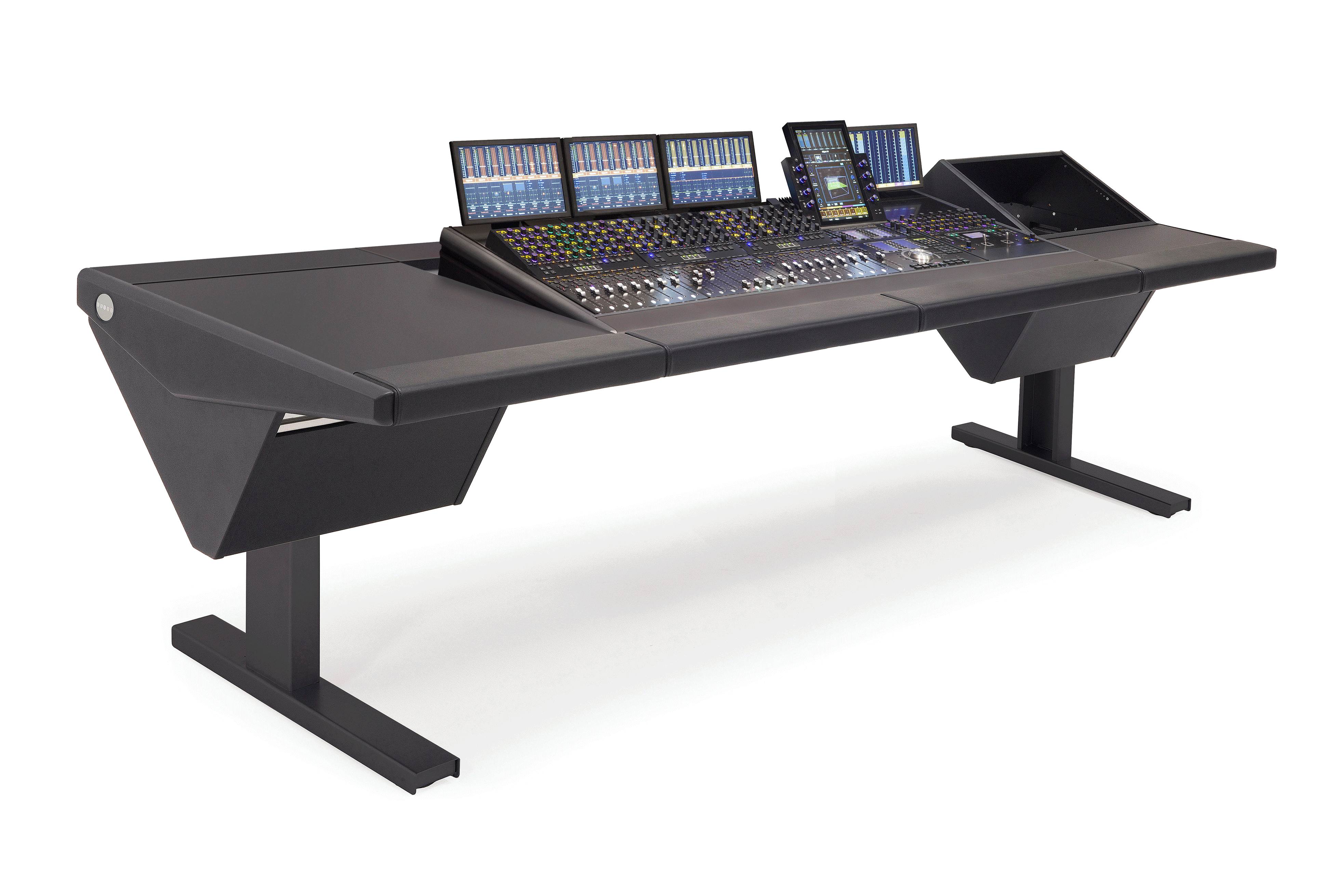 S4 - 5 Foot Wide Base System with Desk (L) and Rack (R)